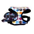 &quot;Retro Pooch&quot; Circles Dog Harness + Leash Set (Rainbow)