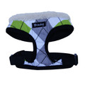 """Get Plaid"" Dog Harness (Green + Grey)"