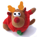 """Raindeer"" Plush Tennis Ball Dog Chew Toy"