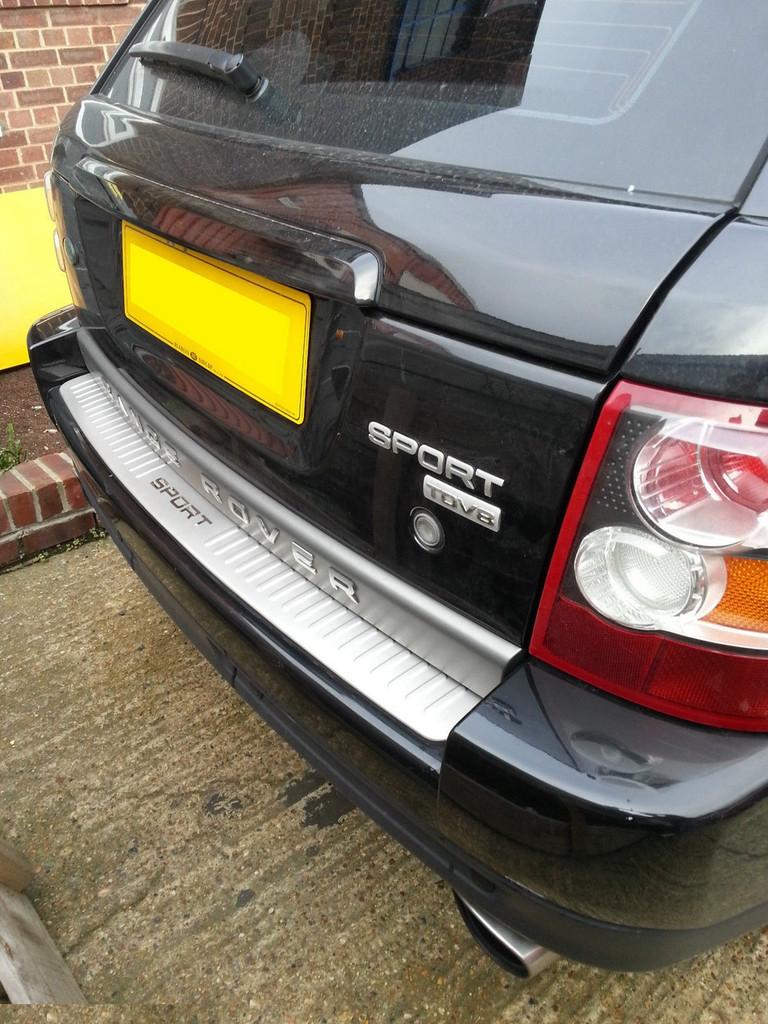Range Rover Sport Chrome Rear bumper tread scuff plate protector