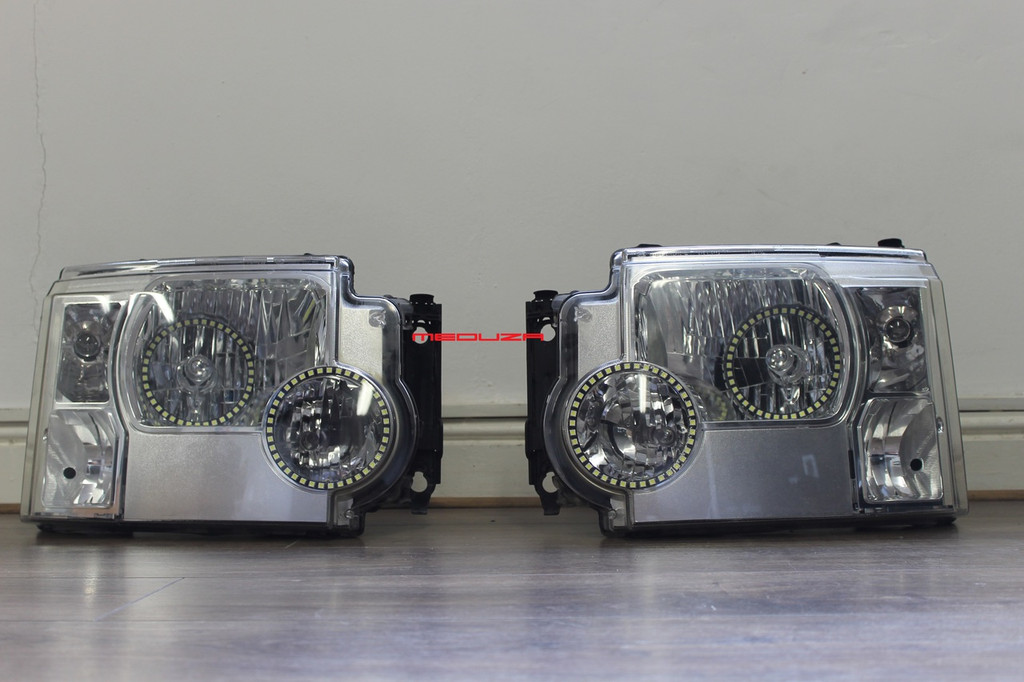 Land Rover Discovery 3 Headlight LED Conversion 2013 Style For NON Xenon Vehicles