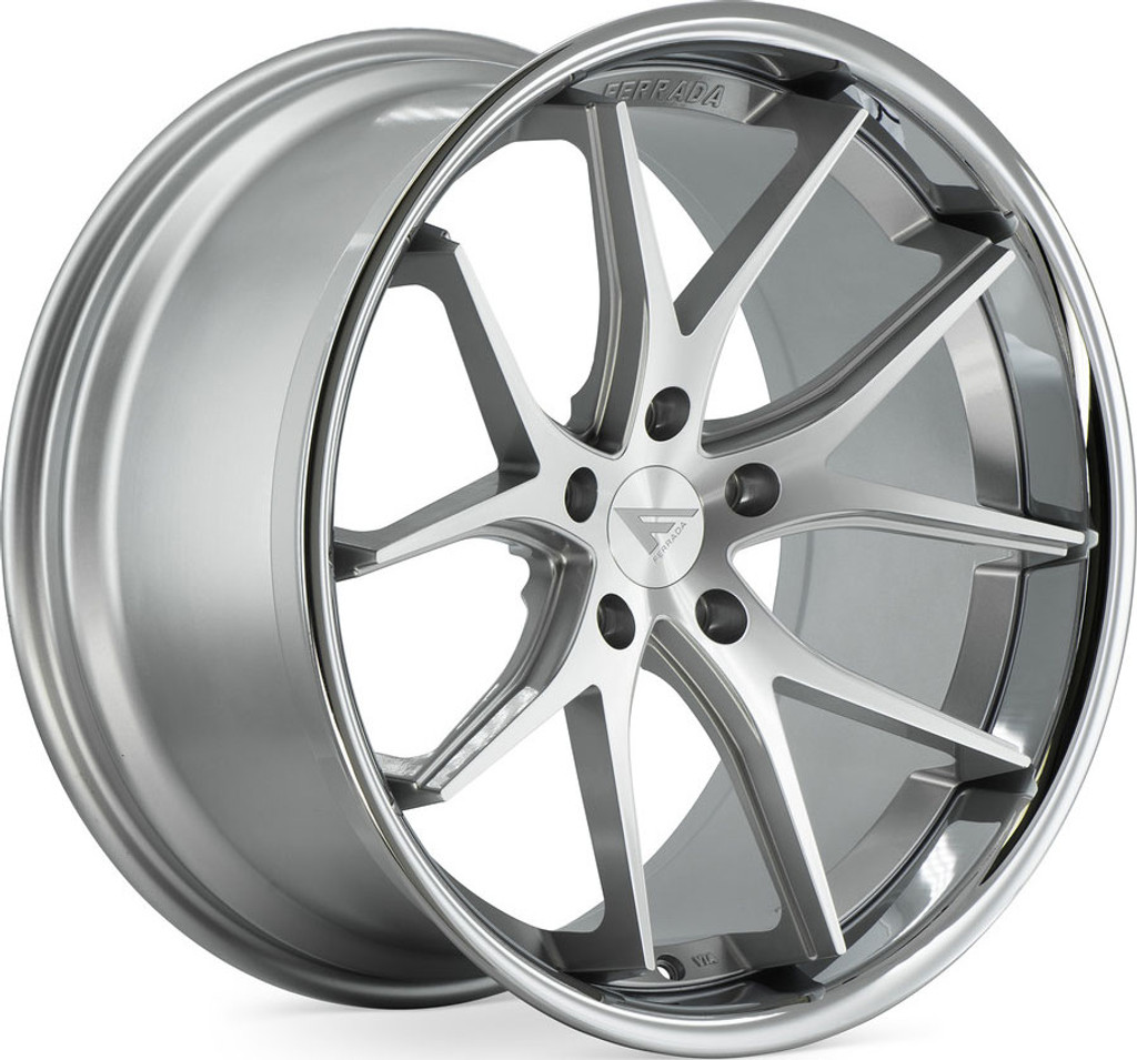 "Ferrada FR2 9 x 20"" Alloy Wheels Machine Silver"