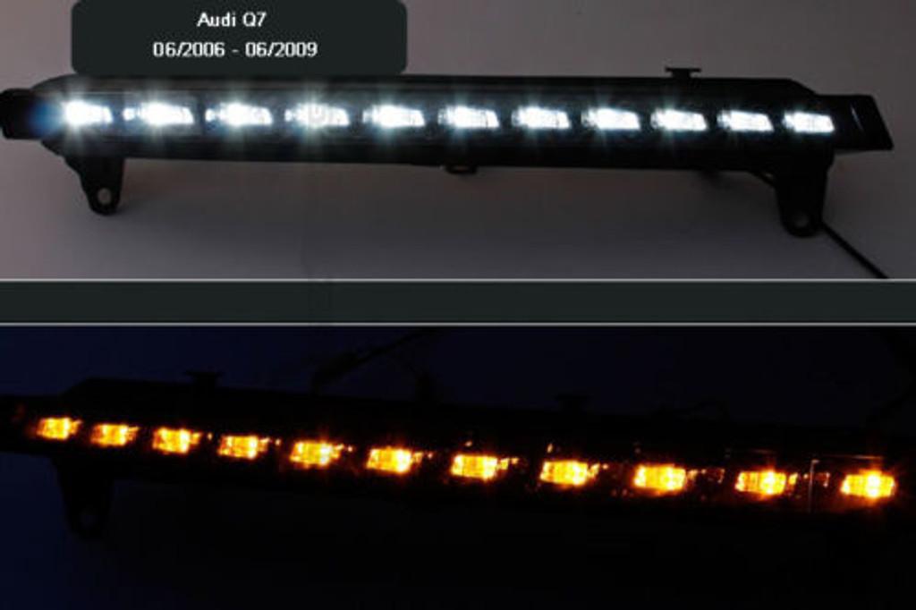 Audi Q7 4L (06-09) LED DRL Daytime Running Light inc indicator