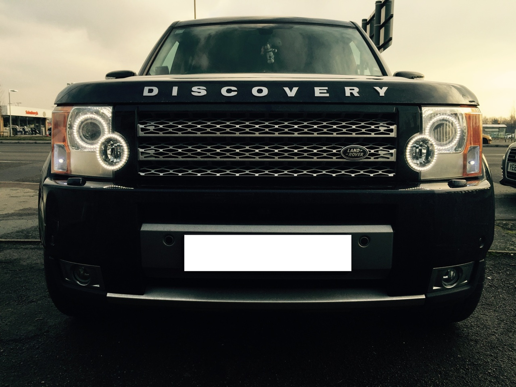 land rover discovery 3 headlight conversion to 2013 led. Black Bedroom Furniture Sets. Home Design Ideas