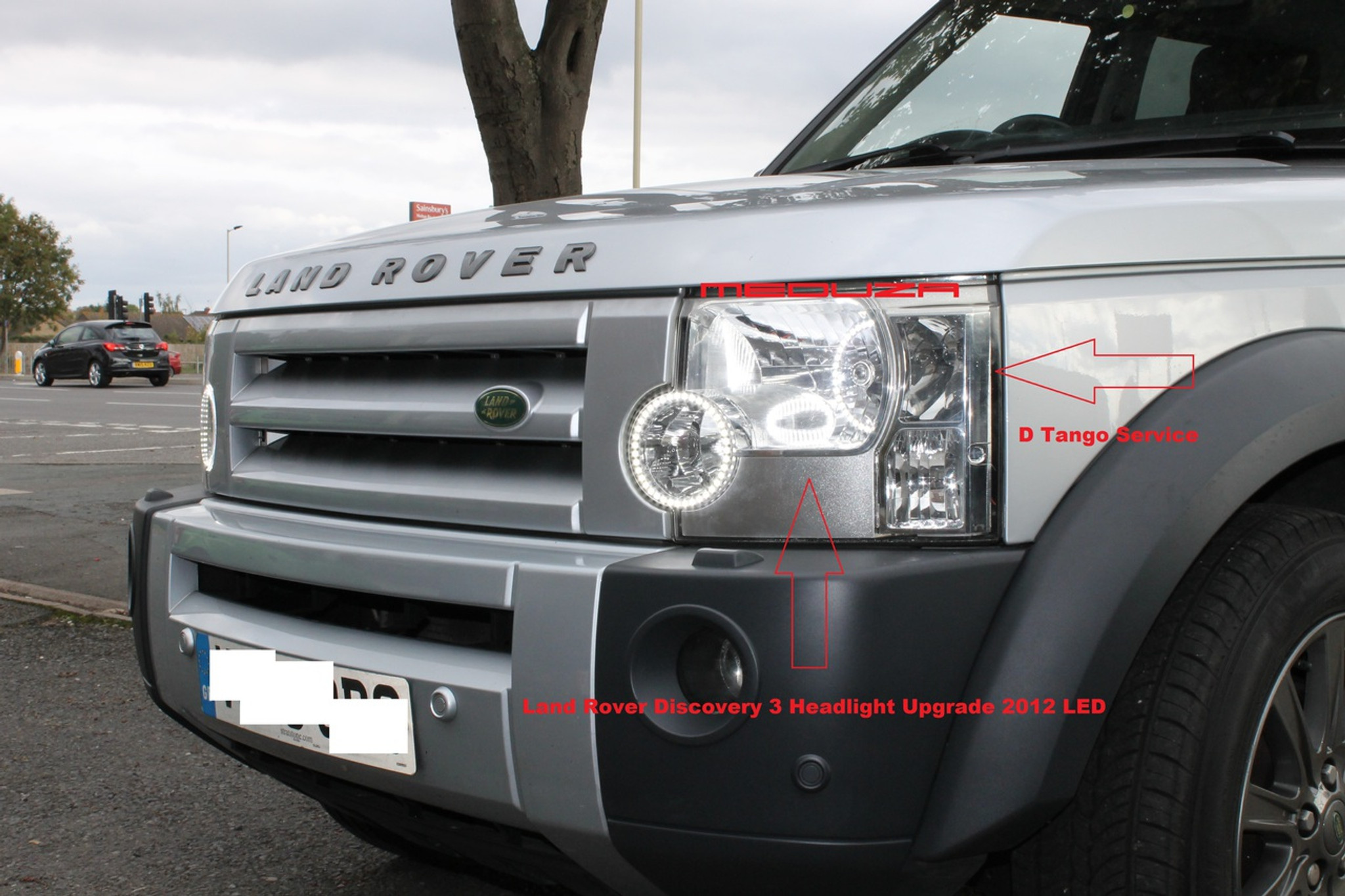 Land Rover Discovery 3 Headlight Led Conversion 2013 Style