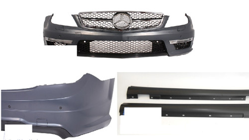 Mercedes W204 07-14 Facelift C63 AMG Complete Conversion Parts