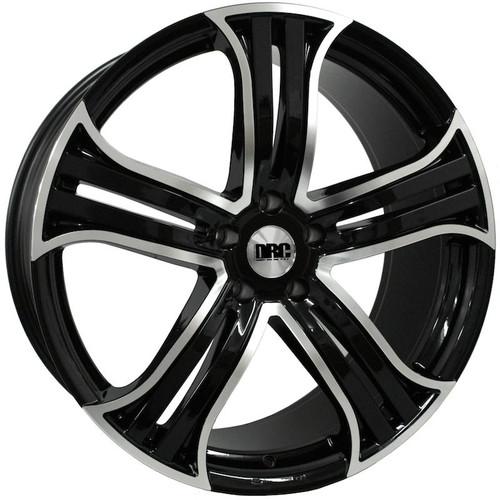 "DRC-DRR 22"" Alloy Wheels (Black/Polished Face)"