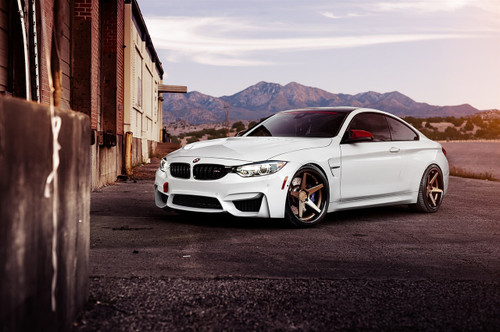 "20"" Ferrada FR3 Matte Bronze Alloy Wheels Mercedes C63 AMG BMW M3 M4 Staggered"