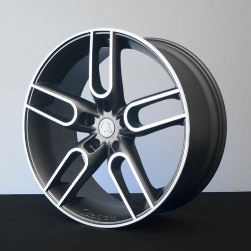 "22"" Caractere CW1 Alloy Wheels Graphite Machine Face"