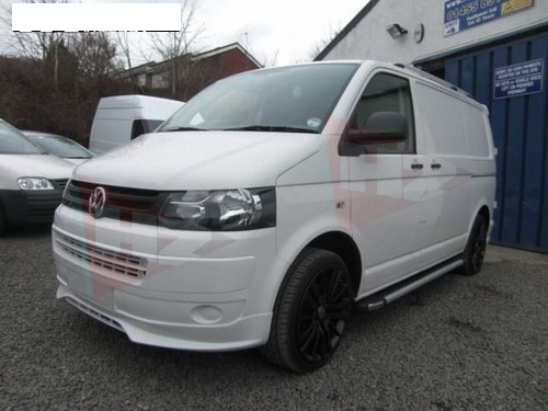 VW Transporter T5 2010 + Facelift front bumper Lip
