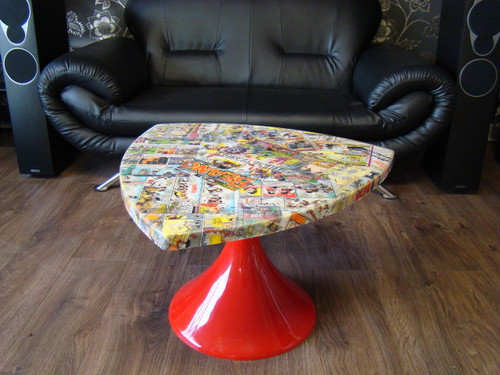 Retro Comic Book Table