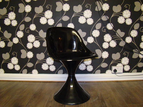 1960`s Style Tulip Chair in Black