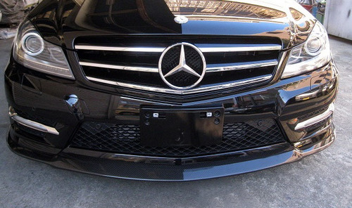 Mercedes Benz C Class W204 Carbon Fibre Front Lip