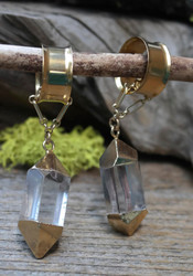 Crystal Point Gauged Earrings