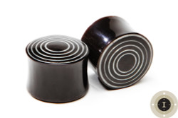 Horn Concentric Circle Plugs