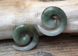 One of a Kind Jadeite Spirals 00g (9.5mm)