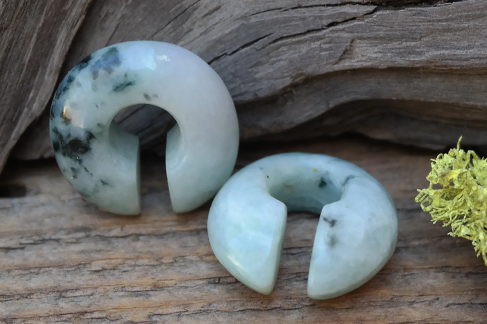 """One of a Kind Jadeite Donuts 9/16"""" (14mm)"""