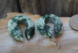 "Unique Jadeite Donuts in size 7/16""(11mm)"
