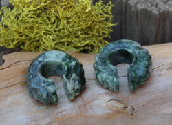 "Gorgeous Jadeite Donuts 7/16""(11mm)"