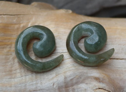Unique Jadeite Spiral Earrings 2G (6mm)