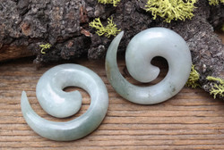 "Jadeite Spirals One of a Kind 1/2""(13mm)"