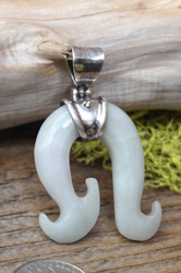 Beautiful Jadeite Wave Hook Pendant