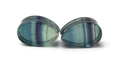 Double Flared Teardrop Plugs - One of a Kind