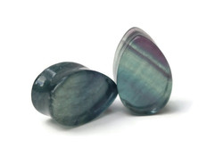 Beautiful Double Flared Fluorite Plugs 7/8""