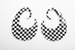Limited Edition Checkerboard Thick Hoops