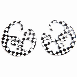 Limited Edition Checkerboard Wave Hoops