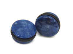 Sodalite Single Flare Stone Plugs