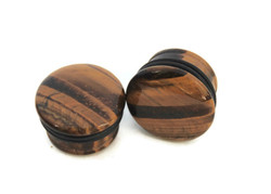 Brown Tigers Eye Single Flared Plugs