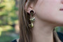 Cat Magnetic Clasp Gauged Earrings