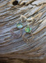 Abalone Sterling Silver Magnetic Clasp Gauged Earrings