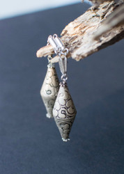 Afghan Silver Magnetic Clasp Gauged Earrings