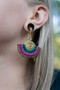 Wire and Macrame Magnetic Clasp Gauged Earrings