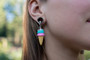 Ice Cream Cone Magnetic Clasp Gauged Earrings - Available in multiple colors