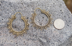 Unique Brass Hoops Earrings