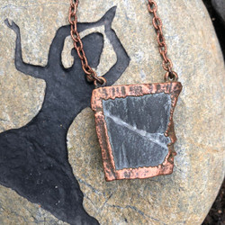 Stone Copper Electroformed Necklace