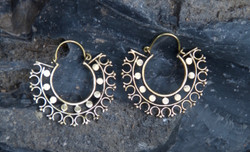 Boho Brass Hoop Earrings
