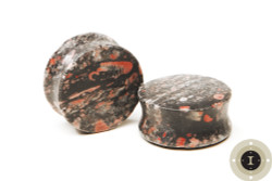 Fossil Stone Plugs - Double Flared Plugs