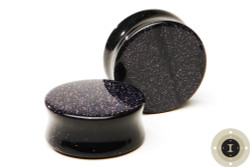 Blue Goldstone Plugs - Double Flared Plugs