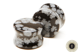 Snow Flake Obsidian - Double Flared Plugs