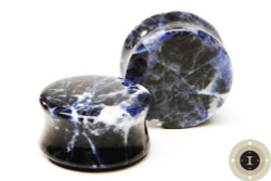 Sodalite Plugs - Double Flared