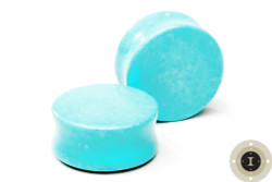 Synthetic Turquoise Stone Plugs w/ no lines