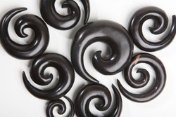 Ebony Wood Spirals