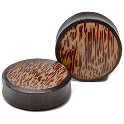 Ebony Wood Plug w/ Palm Wood Inlay
