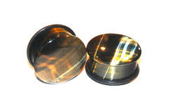 Blue Tigers Eye Plugs Single Flared Plugs