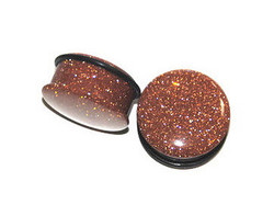 Red Goldstone Plugs Single Flared