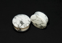 Howlite Single Flare Plugs